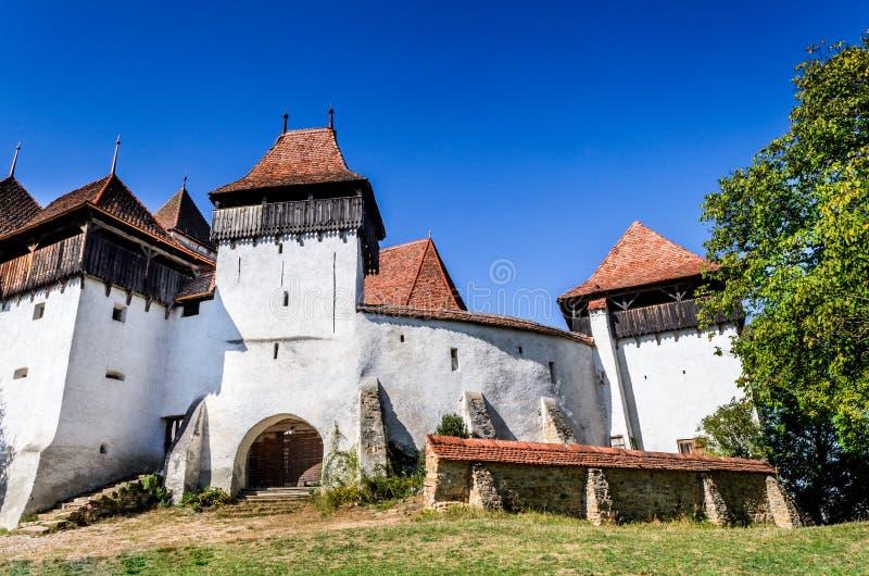 Viscri,特兰西瓦尼亚,罗马尼亚 库存图片