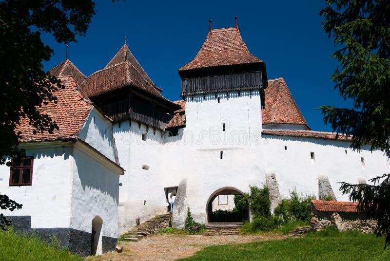 Viscri, chiesa fortificata in Romania fotografia stock
