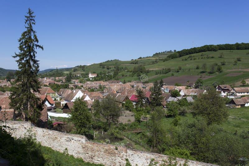 Viscri fortificou a cidade imagem de stock