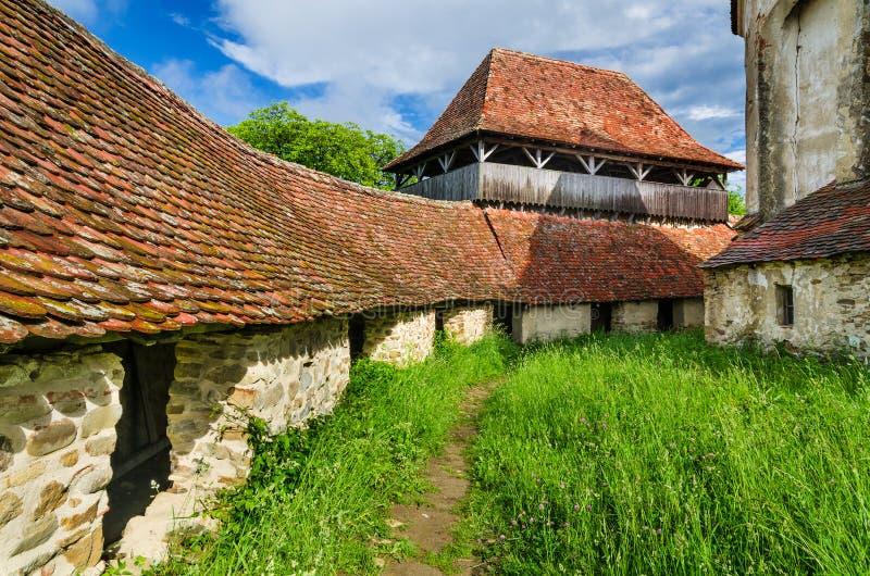Viscri fortificou a igreja, a Transilvânia. foto de stock royalty free