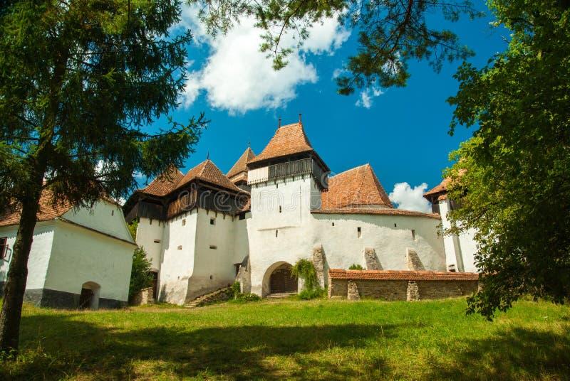 Viscri fortificou a igreja, a Transilvânia, Romania imagens de stock