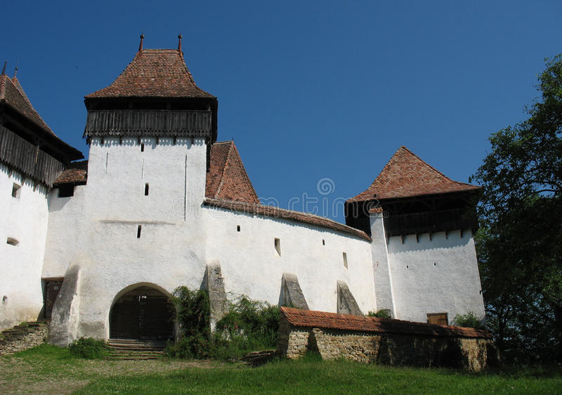 Viscri Fortified Church. The Fortified Church at Viscri is one of the most interesting Saxon fortified churches in Transylvania stock image