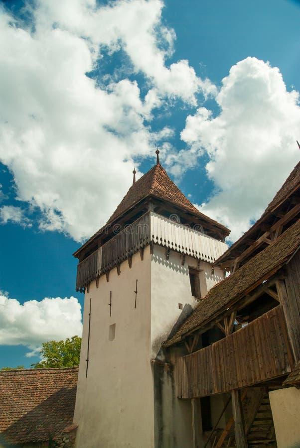 Viscri fortified church, Transylvania, Romania. Viscri village and fortified church of Viscri royalty free stock photography