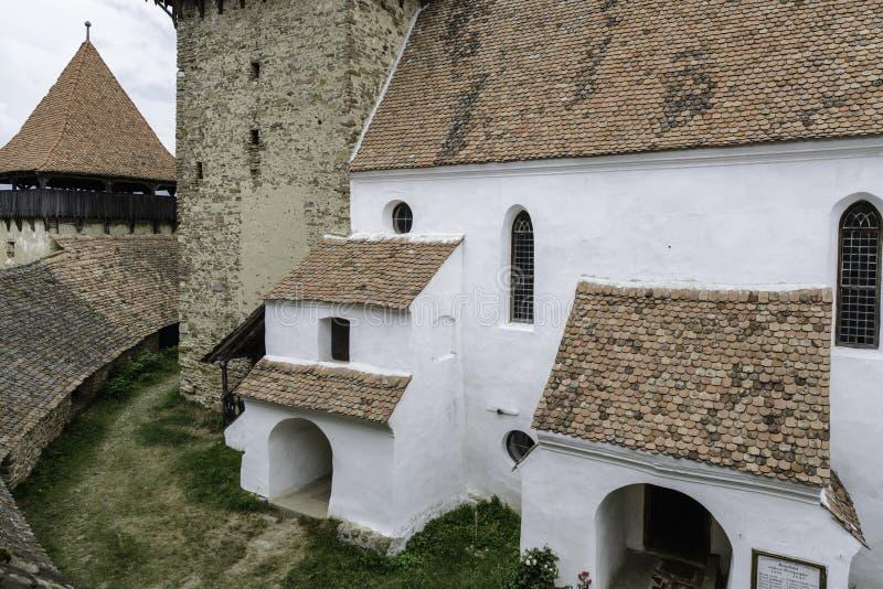Viscri, romania, Europa, igreja fortificada imagem de stock