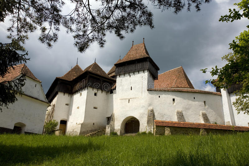Viscri stärkte kyrkan arkivbild