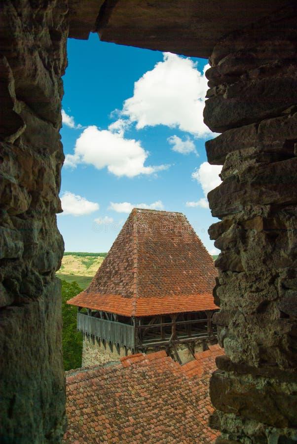 Viscri versterkte kerk, Transsylvanië, Roemenië royalty-vrije stock afbeeldingen