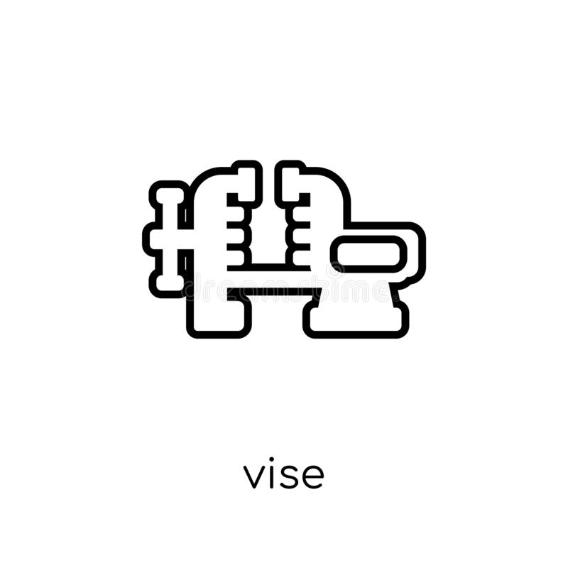 Vise icon. Trendy modern flat linear vector Vise icon on white b stock illustration