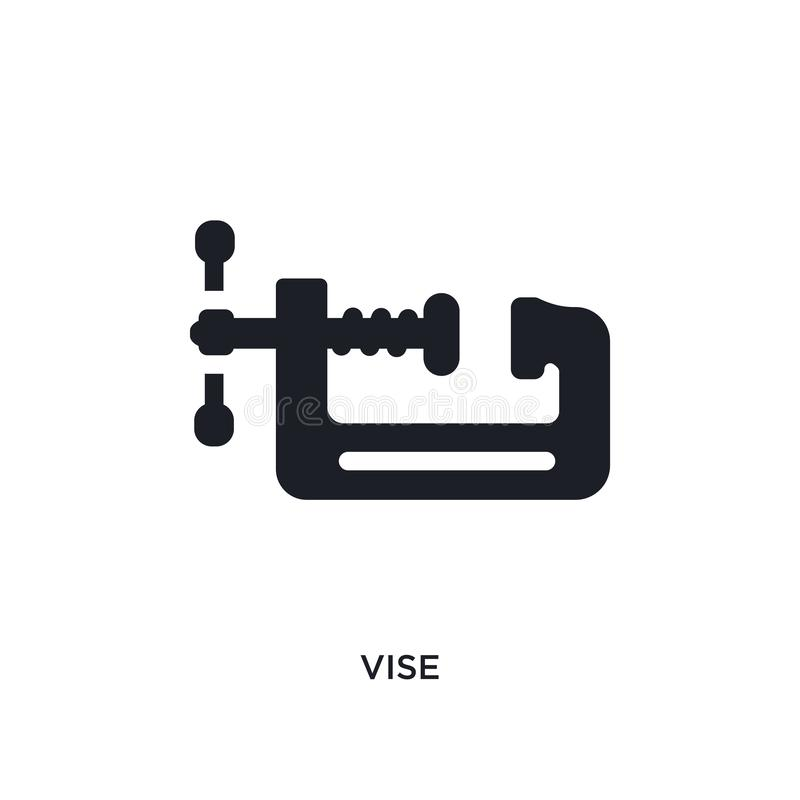 Vise isolated icon. simple element illustration from construction concept icons. vise editable logo sign symbol design on white. Background. can be use for web vector illustration