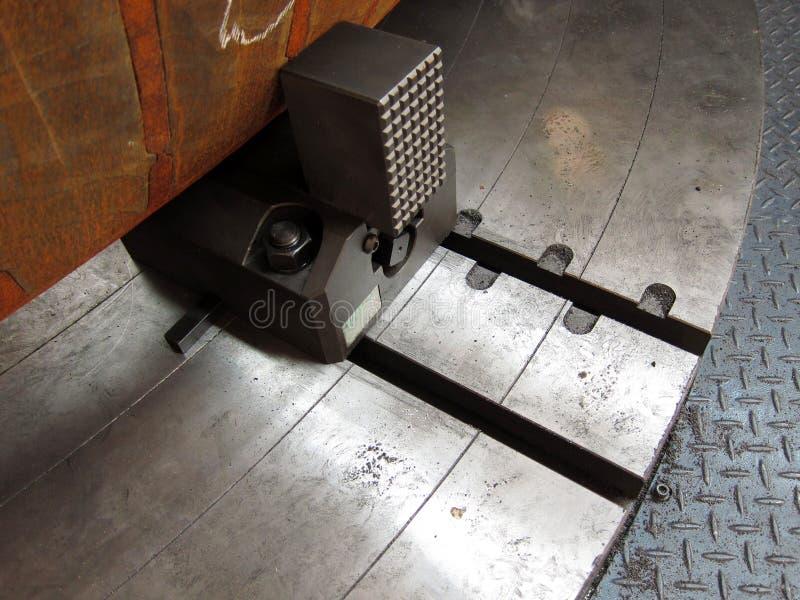 Vise of Lathe machine stock photography