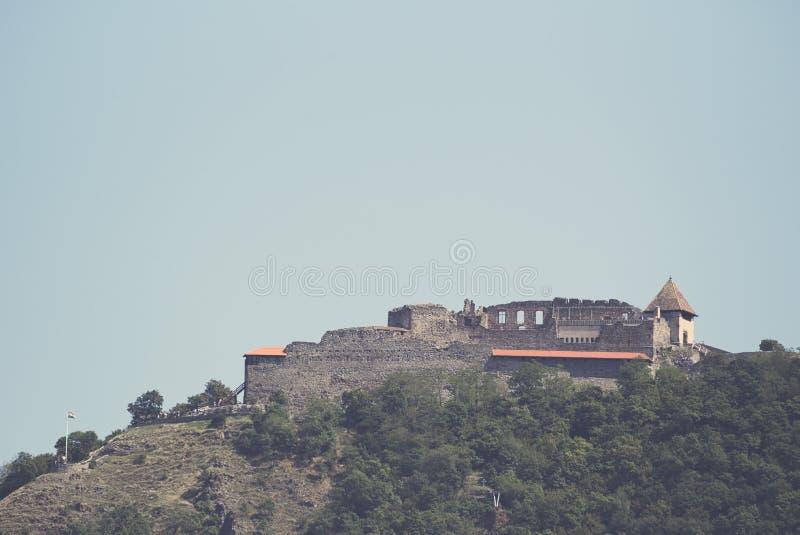 Visegrad Castle Closeup. Visegrad Castle on a Sunny Summer Day Closeup royalty free stock images