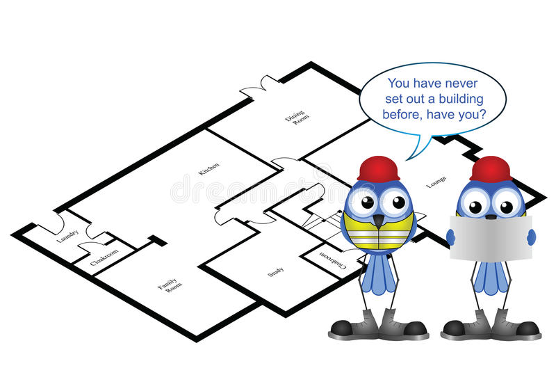 Viser une maison illustration de vecteur