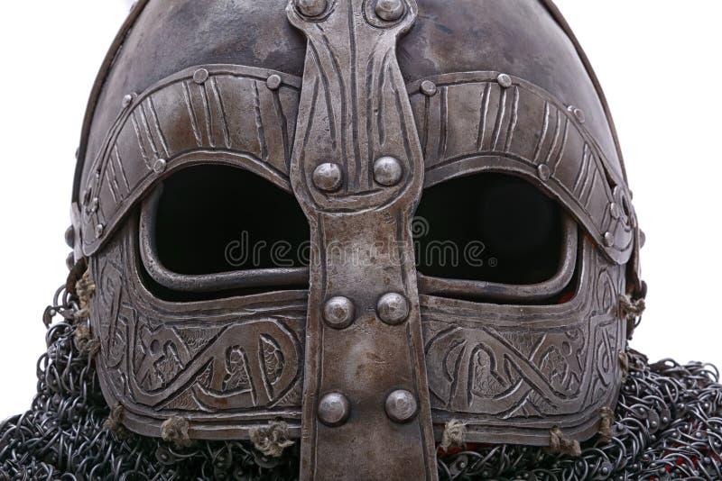 Visera del casco de Viking fotografía de archivo