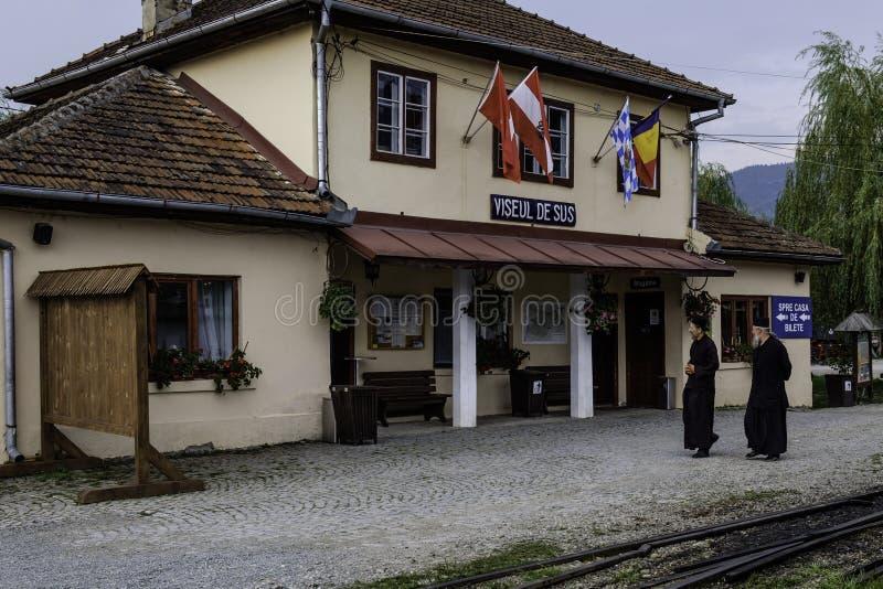 Viseu de sus, Roumanie, mocanita de stazione d'europa image stock