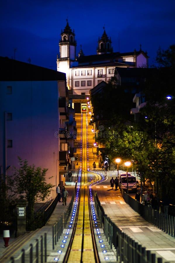 Viseu Portugal. At night royalty free stock photos