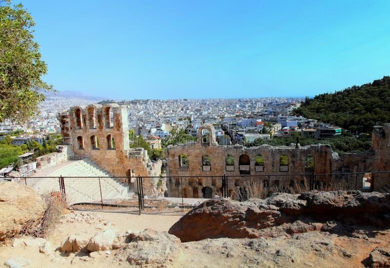 Viseur d'Acropole photo stock