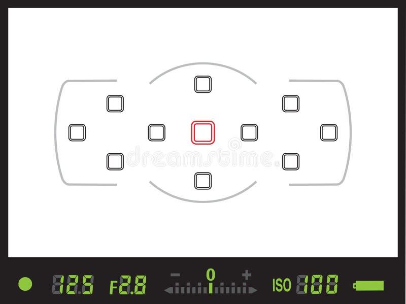 Viseur d'appareil-photo numérique du réflexe de lentille simple/DSLR photos stock