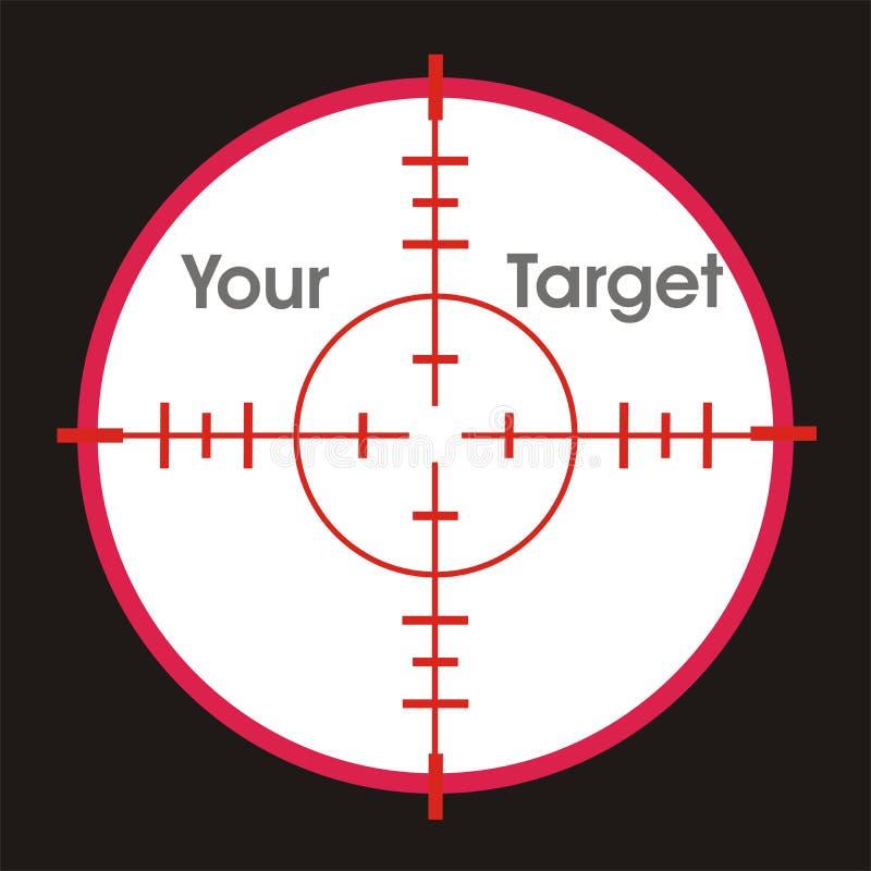 Viseur pour votre cible illustration de vecteur