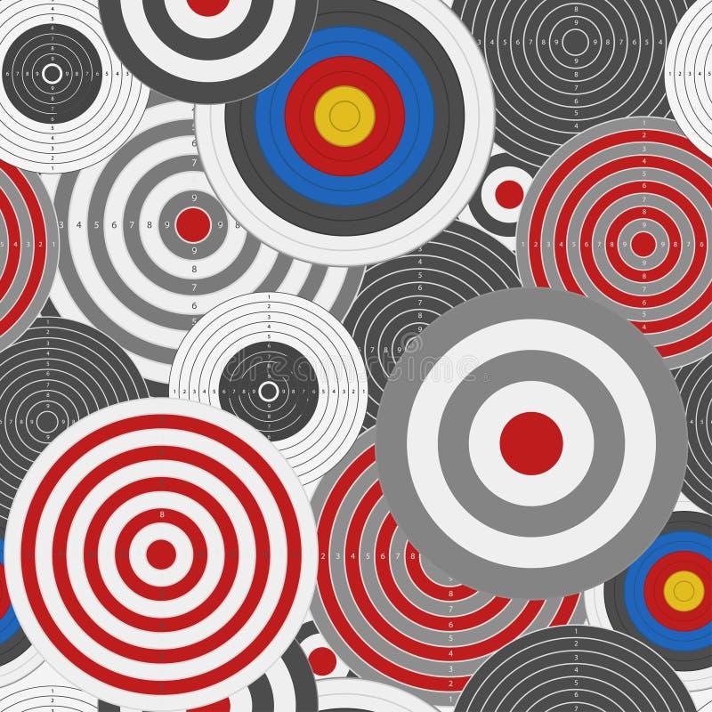 Visez le fond sans couture de conseil, modèle de jeu de dards Vecteur illustration stock