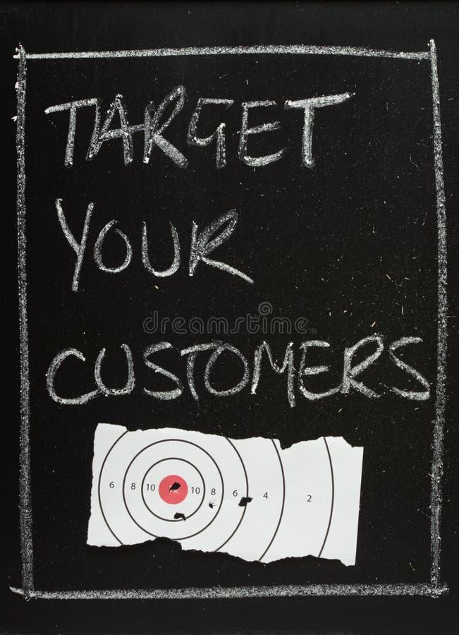 Visez vos clients image libre de droits