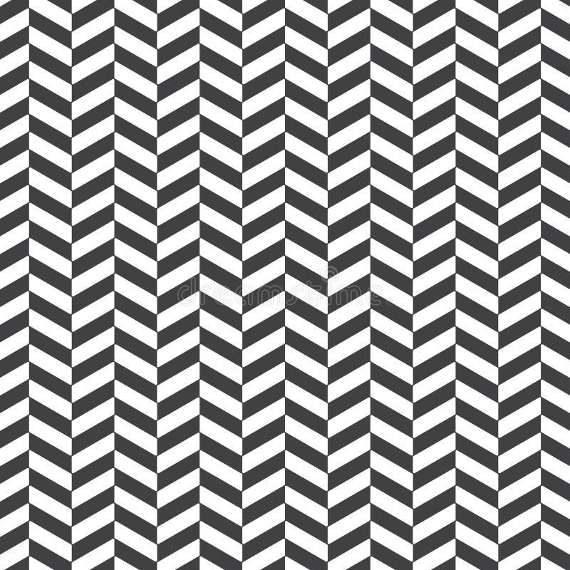 Visgraat abstracte achtergrond het zwarte patroon van de kleurenoppervlakte met chevron diagonale lijnen Klassiek geometrisch orn royalty-vrije illustratie