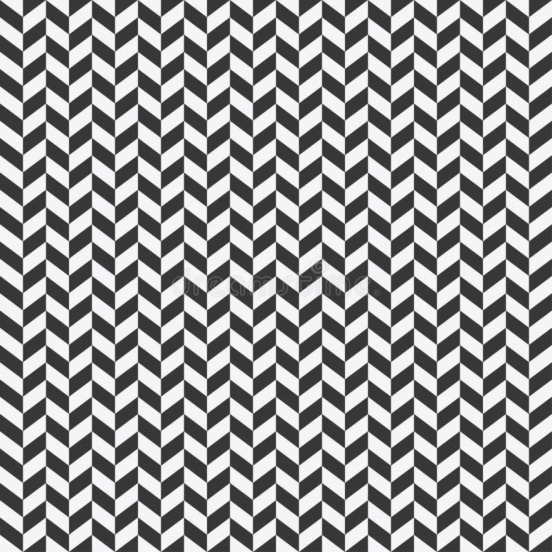 Visgraat naadloos patroon Achtergrond voor kleding en andere textielproducten Zwart-witte achtergrond Vector royalty-vrije illustratie