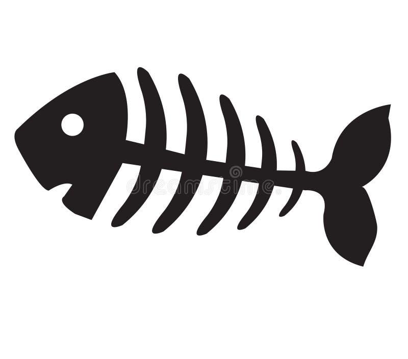 Visgraat, vissenskelet vector illustratie