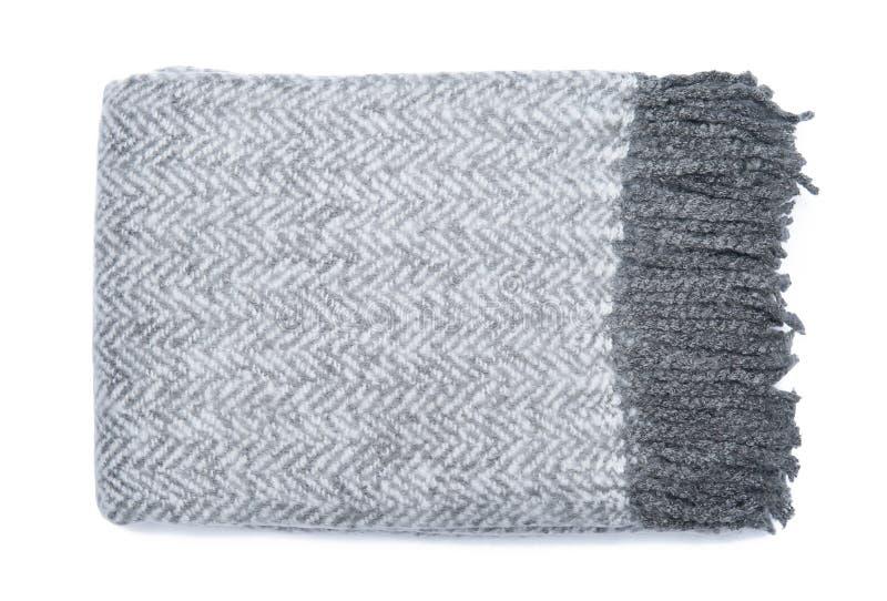 Visgraat zachte die deken op witte achtergrond wordt geïsoleerd stock foto's