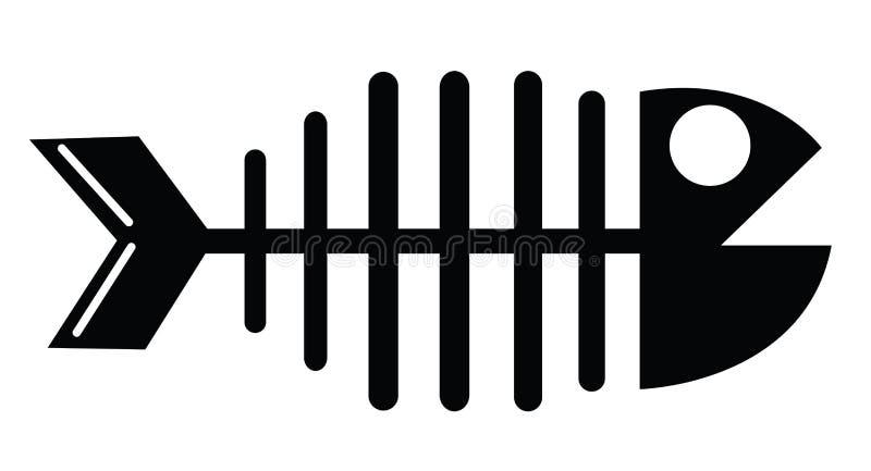 Visgraatsilhouet stock illustratie