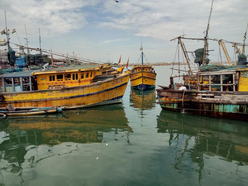 Vishakapatnam port royaltyfria foton