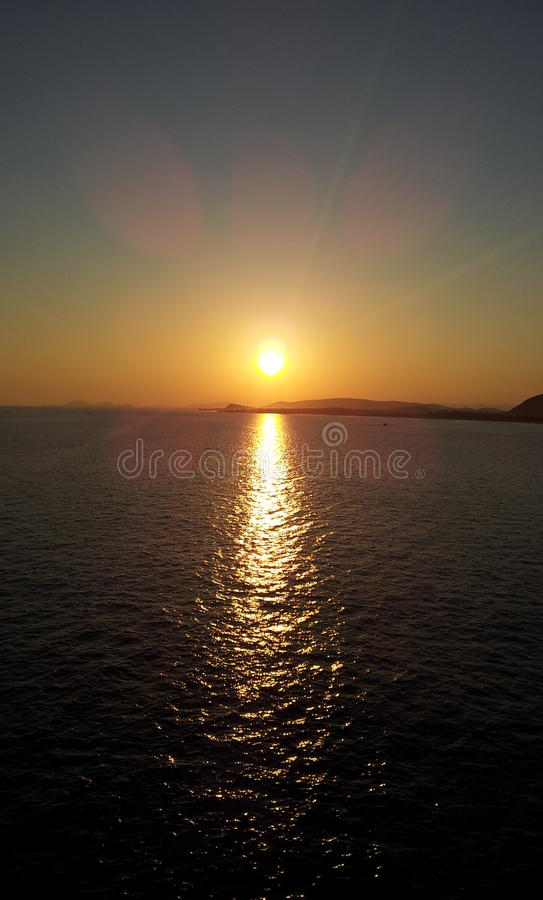 vishakhapatnam hermoso de la India del vizag de la puesta del sol foto de archivo