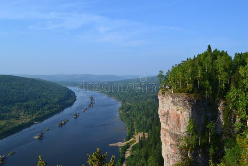 Vishera rzeka Perm region Rosja obrazy stock