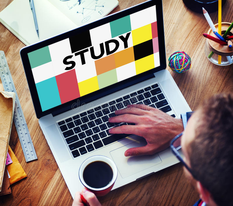 Vishet för studieutbildningskunskap som studerar begrepp arkivbilder