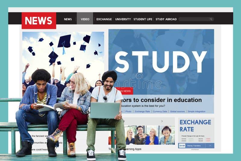 Vishet för studieutbildningskunskap som studerar begrepp royaltyfri foto