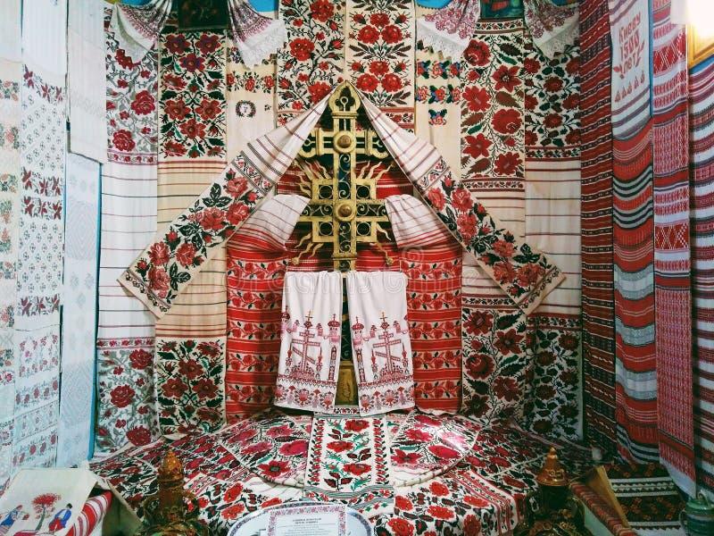 Vishivanka jest symbolem, szczęśliwym przeznaczeniem, rodzajowym pamięcią, przyzwoitością, rzetelnością, miłością i świąteczny zd zdjęcie royalty free