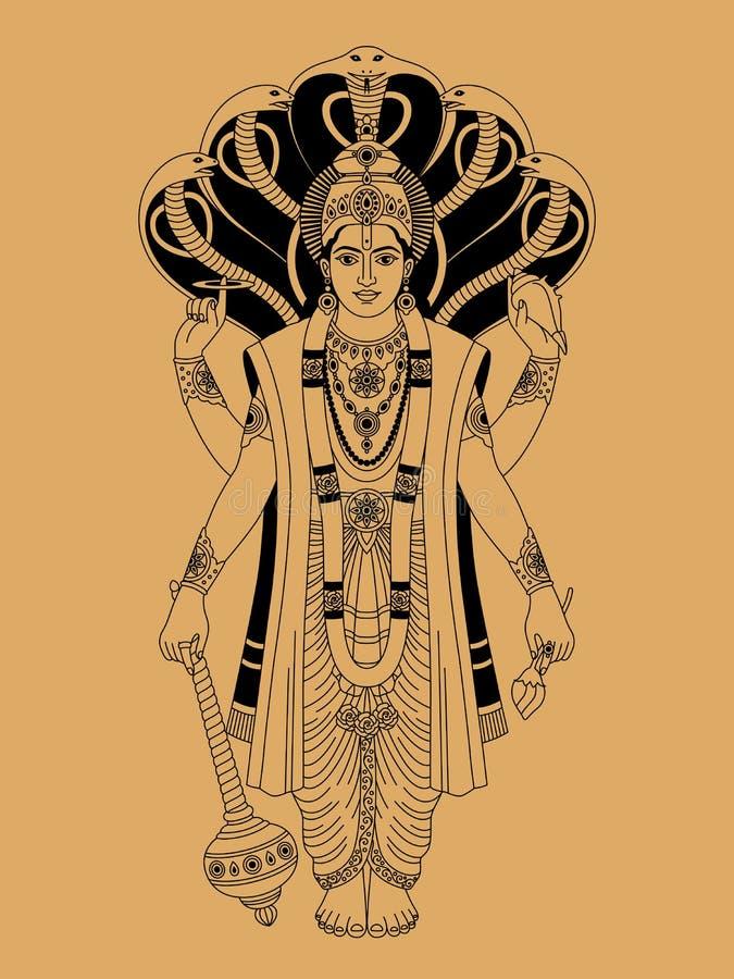 Vishnu ilustração royalty free
