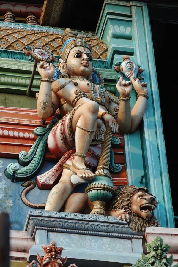 Vishnu - deus supremo do Hinduism - decoração fotos de stock royalty free