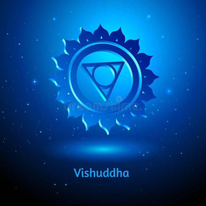 Vishuddha Chakra stock illustratie