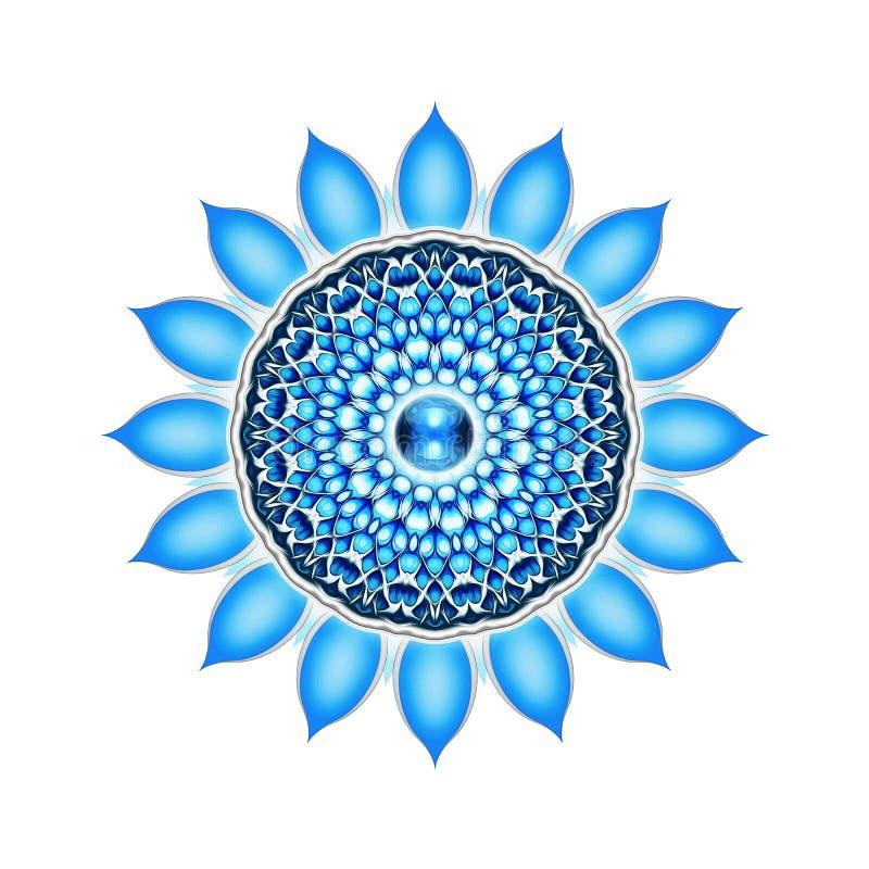 The Vishuddha Chakra Mandala. Illustration of the vishuddha chakra vector illustration