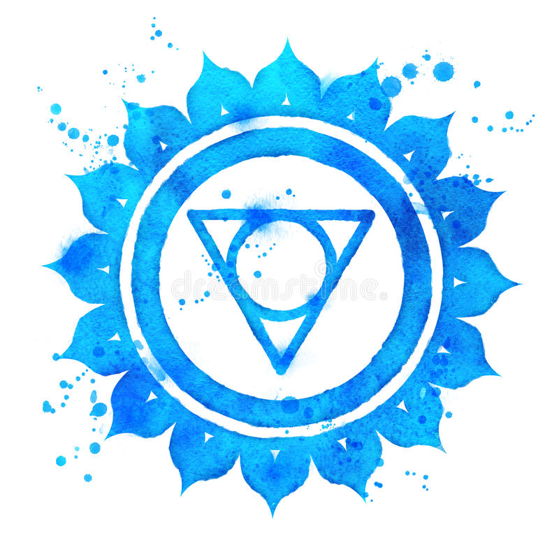 Vishuddha chakra symbol. stock illustration