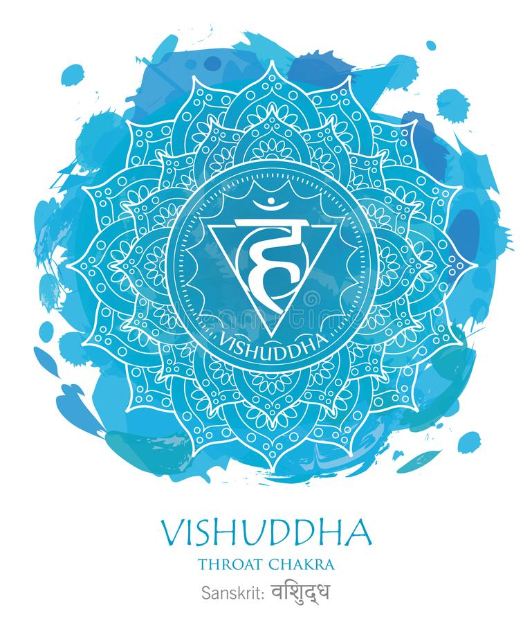 Vishuddha chakra vector stock photos