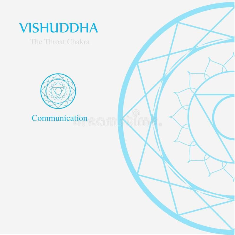 Vishuddha- keelchakra die mededeling betekent vector illustratie