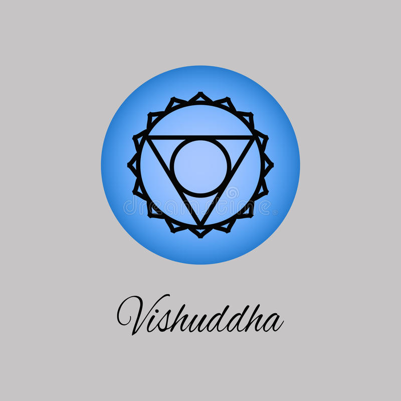 vishuddhathroat chakra symbol of the fifth human chakra