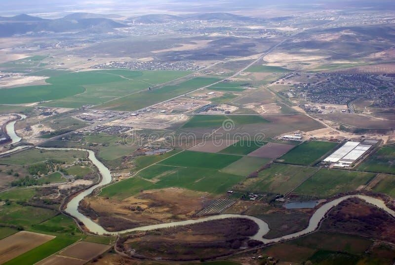 Visión aérea fotografía de archivo libre de regalías