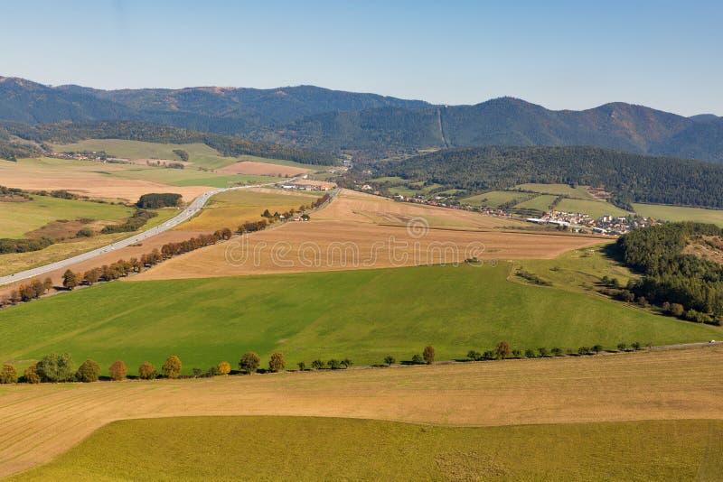 Visión aérea desde el castillo de Spis, Eslovaquia imagen de archivo libre de regalías