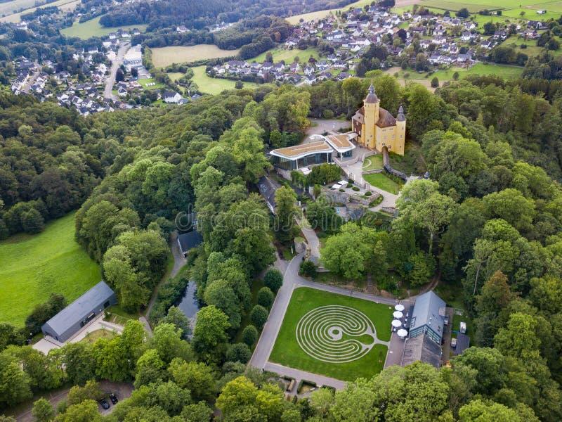 Visión aérea desde el Homburg del castillo en Nuembrecht imágenes de archivo libres de regalías