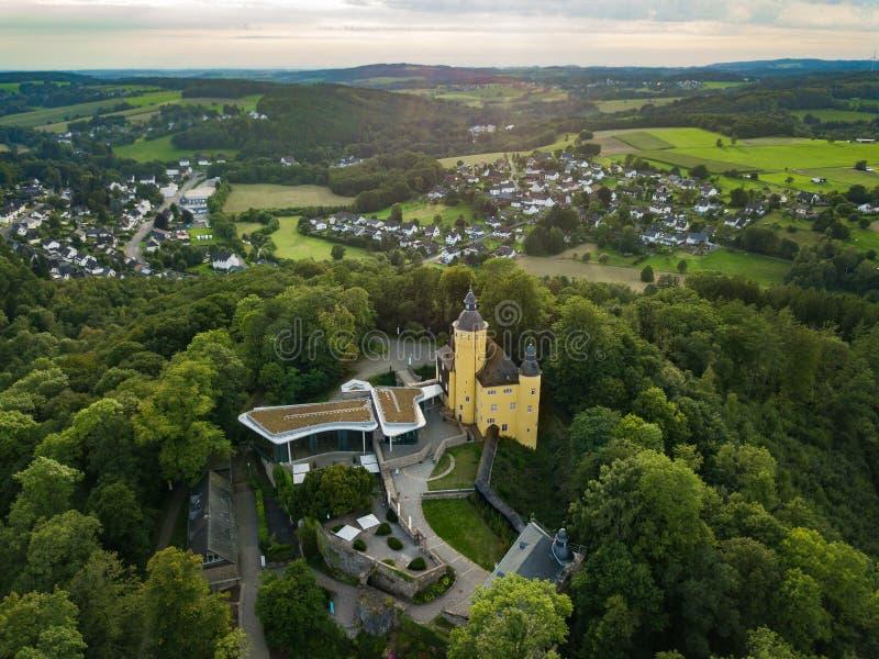 Visión aérea desde el Homburg del castillo en Nuembrecht fotografía de archivo