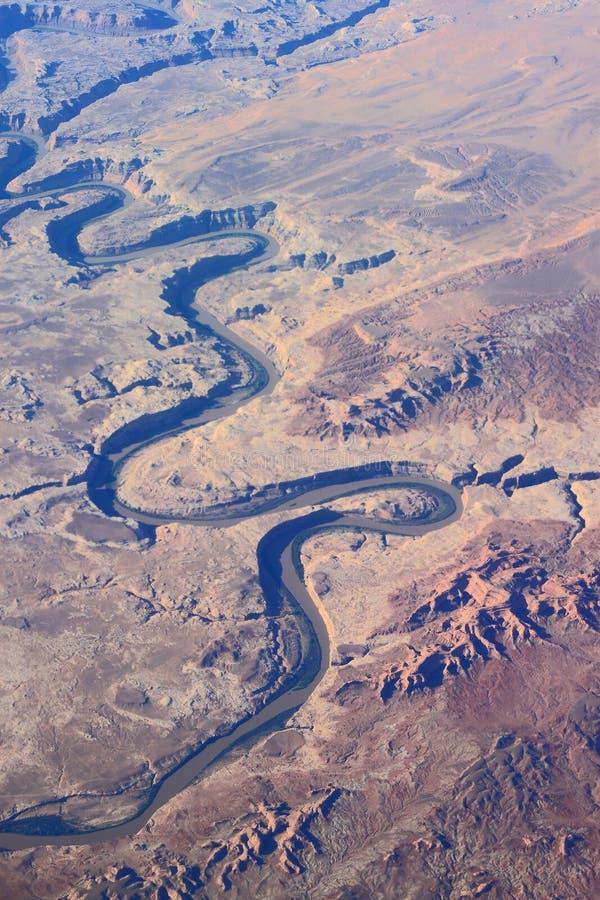 Visión aérea el río Colorado fotografía de archivo