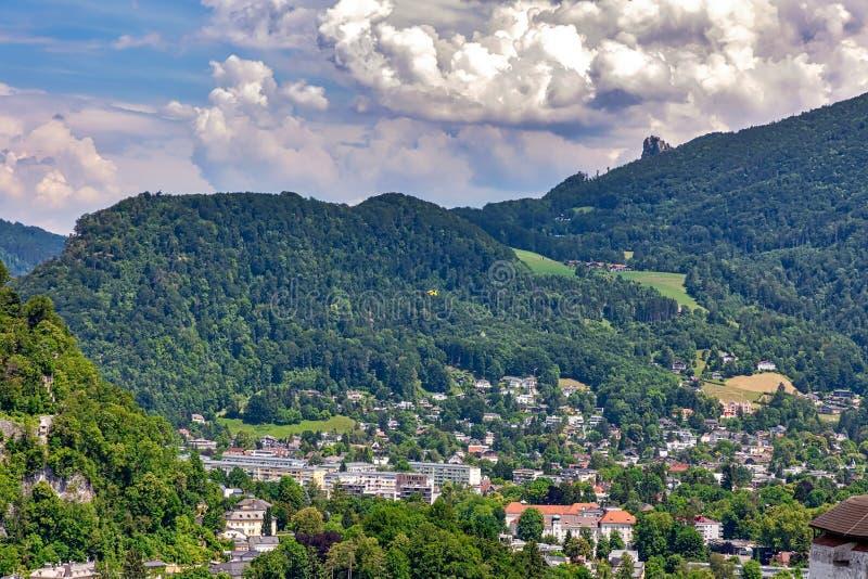 Visión aérea en Salzburg, Austria foto de archivo libre de regalías