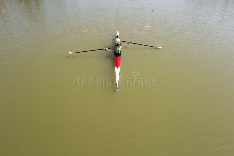 Visión aérea Kayaking imágenes de archivo libres de regalías