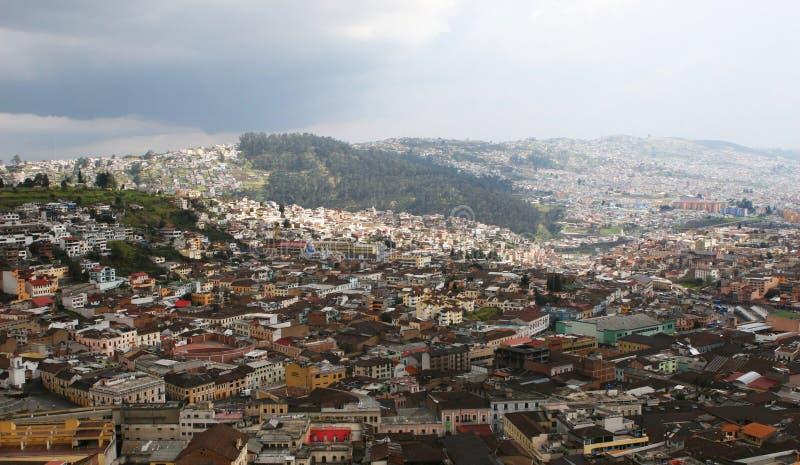 Visión aérea - Quito Ecuador foto de archivo libre de regalías